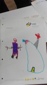 Kinder zeichnen Orks frei nach Rudy Eiznehöfer