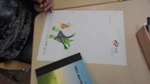 Die Kinder aus der Lese- und Schreibwerkstatt waren inspiriert und haben ihre eigenen Orks und Goblins gemalt