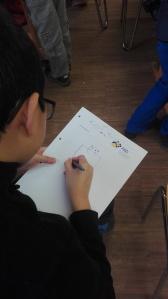 Einen Ork zeichnet man mit Quadrat und Kreis