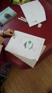 Ork-Bilder der Kinder aus der Lese- und Schreibwerkstatt