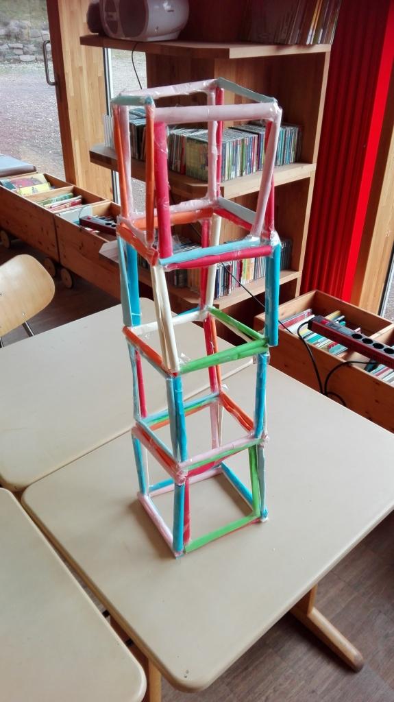 unser gebastelter Turm