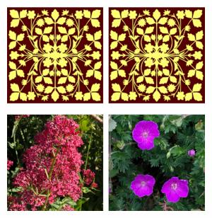 Vorschau zum Memory, aufgedeckte Karten zeigen Blumenbilder