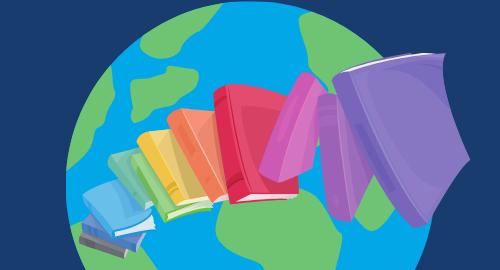 Poster: Wir gehen auf literarische Weltreise